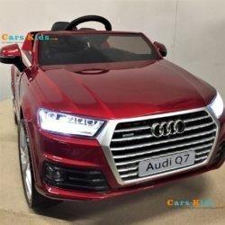 Электромобиль Audi Q7 S-line Luxury HL-159 красный (колеса резина, сиденье кожа, пульт, музыка)