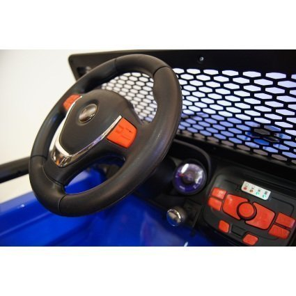 Электромобиль Jeep T008TT 4WD синий (2х местный, полный привод, колеса резина, кресло кожа, пульт музыка)