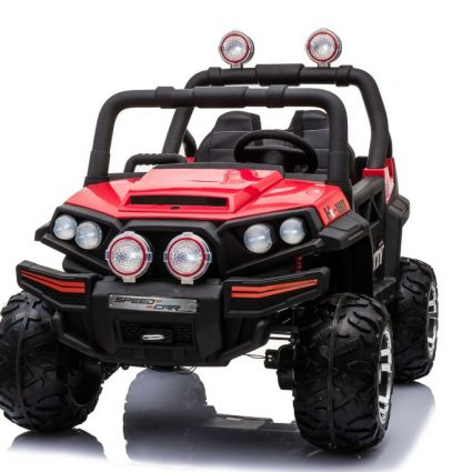 Электромобиль Buggy О333ОО красный (2х местный, полный привод, колеса резина, кресло кожа, пульт, музыка)
