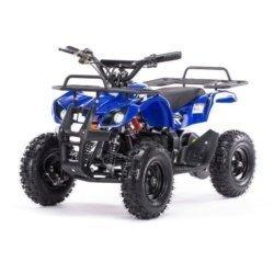 Детский квадроцикл на аккумуляторе MOTAX Mini Grizlik Х-16 мощностью 1000W синий (пульт контроля, до 35 км/ч)