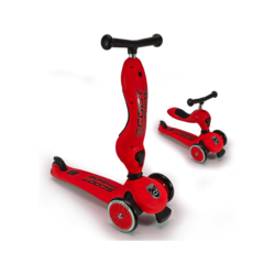 Трехколесный самокат с сиденьем Scoot&Ride HighwayKick КРАСНЫЙ от 1 до 5 лет (2 в 1)