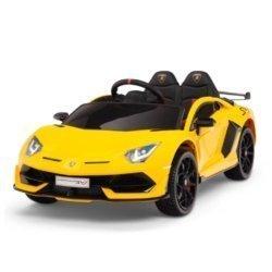 Электромобиль Lamborghini Aventador SVJ 12V HL328 (колеса резина, кресло кожа, пульт, музыка)