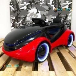 Электромобиль Apple iCar 12V - HL208 красный (колеса с подсветкой, кресло кожа, пульт, музыка)