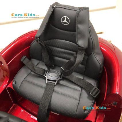 Электромобиль Mercedes Benz GT O008OO красный глянцевый (колеса резина, кресло кожа, пульт, музыка)