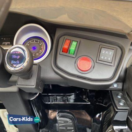 Электромобиль Mercedes Benz GLC63 AMG 4WD QLS-5688 черный (полный привод, колеса резина, кресло кожа, пульт, музыка)