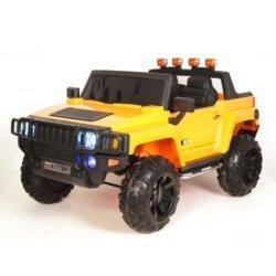Электромобиль HUMMER A777MP желтый (колеса резина, кресло кожа, пульт, музыка)