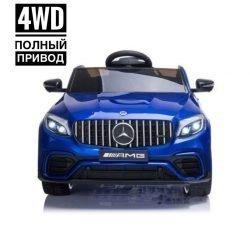 Электромобиль Mercedes Benz GLC63 AMG 4WD QLS-5688 синий (полный привод, колеса резина, кресло кожа, пульт, музыка)