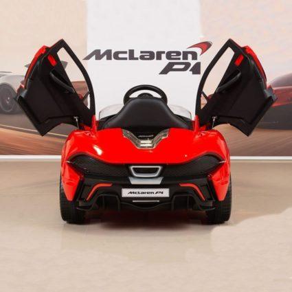 Электромобиль Mclaren 672R красный (колеса резина, кресло кожа, пульт, музыка)